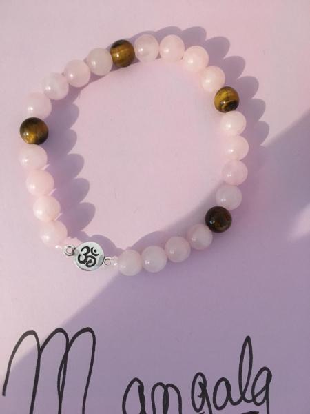 Bracelet quartz rose oeil tigre