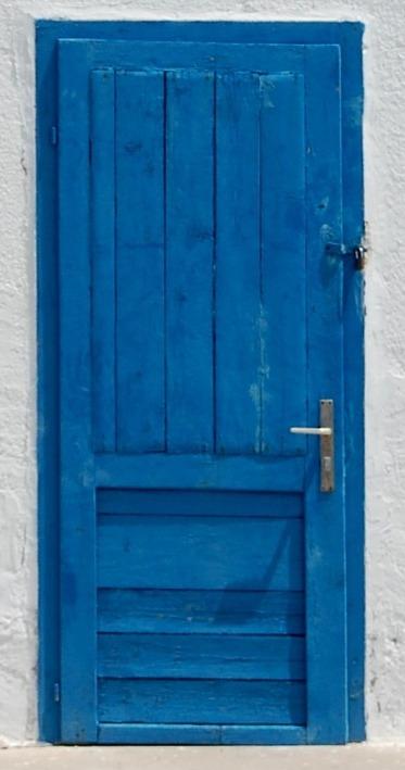 Porte bleu 1